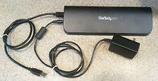 Startech PC Laptop Dual Monitor USB 3.0 Dock Station HDMI VGA DVI USB3SDOCKHDV