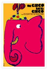 "Spanish movie Poster 4 film""Red Circus ELEPHANT""child art.Pink.Children room"