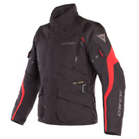 DAINESE TEMPEST 2 D-DRY BLACK / RED MOTORCYCLE JACKET - EU 50/52/54/56/58