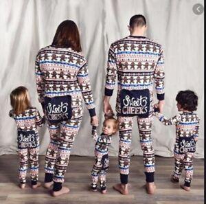 Family mens ladies kids baby all in one pyjama loungewear sweet cheeks RRP £40