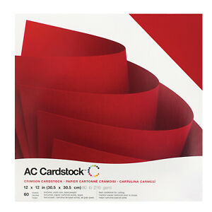 "American Crafts 12"" x 12"" Crimson Design Textured Cardstock Pack - 60 Sheets"