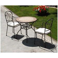 tavolo giardino in ferro BATTUTO TAVOLO ROTONDO PIANO MOSAICO MATTONELLA