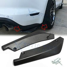 Carbon Fiber Style Rear Bumper Fin Canard Splitter Diffuser Valence Spoiler Lip