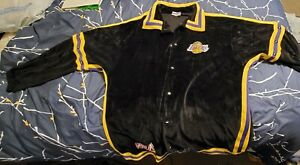 Los Angeles Lakers Warm Up Jacket L NBA  Large Shirt Snap Off Sleeves Sweatshirt