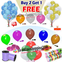 "12"" 30X Latex PLAIN BALLOONS BALLONS helium Quality Party Birthday Colour BALOON"
