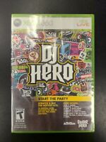 DJ Hero Xbox 360 Brand New Factory Sealed NIB Complete CIB Microsoft