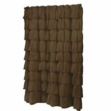 """Carnation Home """"Carmen"""" Polyester Shower Curtain in Brown"""