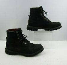 Men's Timberlands Black Leather Lace Up Ankle Boots Size : 9 M