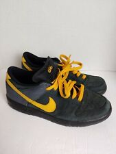 Nike Dunk Low 6.0 Black Gold Dart Sneakers 314142-015 Shoes Size 10