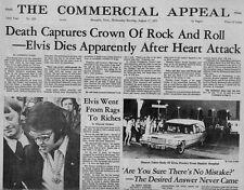 LA MORT D'ELVIS PRESLEY- JOURNAL  AMERICAIN DE MEMPHIS-EDITION SPECIALE-AOUT 77