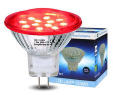 2w LED Mr11 Red Light Bulb 12v 35mm Replacement for Low Voltage Halogen Spot