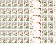US Lung Association Christmas Seals MNH sheet Cardinal Birds sheet of 42 1991
