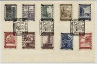 Österreich 1951 KARTE mit SONDERSTEMPEL SALZBURGER/FESTSPIELE (867-876, Satz)