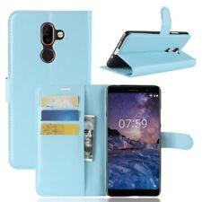 Nokia 7 plus Portable Housse Sac Case Étui de Bleu 2011 L