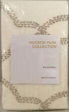 Nip Hudson Park Seed Stitch Trellis King Pillow Sham Gold Metallic Embroidery