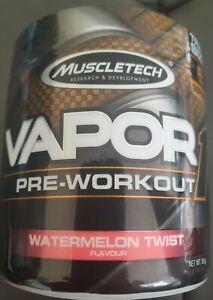 Muscletech Vapor 1 PreWorkout 5Servs Watermelon Twist 2021EXP 3oz Acetyl L-Carn