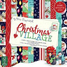 "Helz Cuppleditch ~ 8x8"" Paper Pack ~ 36 x 150gsm sheets ~ Christmas Village"