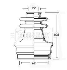 Borg & Beck Driveshaft Bellow CV Joint Boot Kit BCB2417 - 5 YEAR WARRANTY