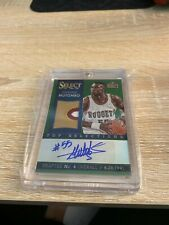 2013-14 SELECT DIKEMBE MUTOMBO TOP SELECTIONS 3 COLOR PATCH AUTO GREEN PRIZM 5/5