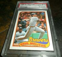 RARE 1989 PAUL MOLITOR O-Pee-Chee #110 Milwaukee Brewers GEM MINT PSA 10 Low Pop