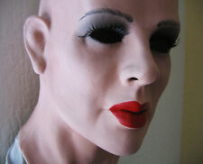 KATE + LASHES - Real. Female Latex Mask - Latexmaske, Rubber Transgender TC CD