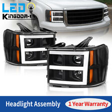For 2007-2013 GMC SIERRA 1500 2500/3500HD LED DRL PROJECTOR HEADLIGHTS LAMPS