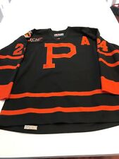 """Game Worn Used Princeton Tigers Hockey Jersey Size 50 #24 """"A"""""""