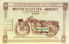 MOTO ARBINET JULES GEORGES CONSTRUCTEUR DIJON 2 3 4 5 CV + CYCLES  CATALOGUE