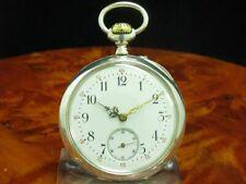 Phenix 800 Silber Open Face Taschenuhr inkl. Taschenuhrkette
