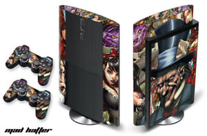 Skin Decal Wrap For PS3 Super Slim PlayStation 3  Console + Controller MadHatter