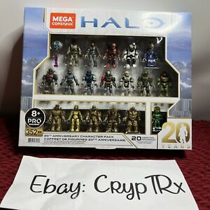 Mega Construx Pro Builders Halo 20th Anniversary Character Pack Amazon Exclusive