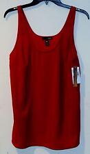 New Aqua Womens Sleeveless Blouse Tank Top 10 $69 Red