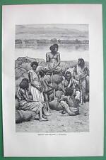 ETHIOPIA Bishari Gum Dealers Africa - Antique Print Engraving