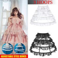 Petticoat Unterrock Kleid Unterkleid Reifrock Ringe Brautkleid Krinoline 55cm DE