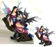 Majestic Mystical Fairy And Dragon Figurine Sculpture * Nib