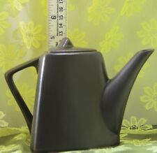 Teapot for 1 Rustic Brown by Designpac Triangular Modern Shape Very Good Cond.