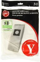 Hoover Type Y Allergen Bags, for WindTunnel Vacuum Cleaners, 3-Pack, 4010100Y