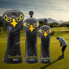 Us Ship Golf Driver Headcover, Fairway Wood Head Cover , Hybrid Head Covers New