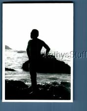 Gay Interest Photo R+0519 View Behind Shirtless Man Posed On Rocks By Water