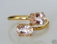 Beautiful 9ct Gold Zambezia Morganite Ring Size U