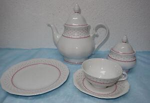 Eschenbach La Reine Form 800 rote Punkte 2145 - Teeservice, Teile zur Auswahl