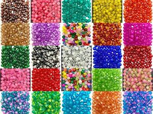 Round Crackle Glass Beads - Single colours / Two-tone, sizes 4mm 6mm 8mm 10mm
