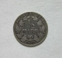 GERMANY, EMPIRE. SILVER 1/2 MARK, 1906 D.