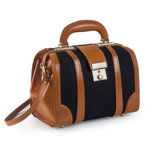 CANVAS WITH LEATHER TRIM DOCTORS BAG 9'' - 40516