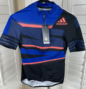 Adidas Adistar Blue Fitted Tech Indigo Cycling Jersey FJ6599, Womens M, NWT $160