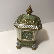 Vintage Fitz and Floyd Classics Gregorian Footed Box w/Lid Candy/Nut/Mint Dish