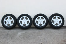"GENUINE NISSAN BLUEBIRD U13 SSS 15"" ALLOY WHEELS + CAPS - OEM RIMS MAGS 2.4L"