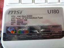 New MSI U-180 Netbook 10.1 in white/purple (please see description)