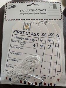 First Class Luggage Baggage Claim scrapbook junk journal ephemera tagsCraft