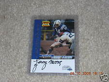 Lenny Moore signed 1999 S.I. Fleer Greats of Game card